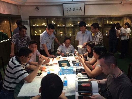壽山石精品拍賣會公開預展現場