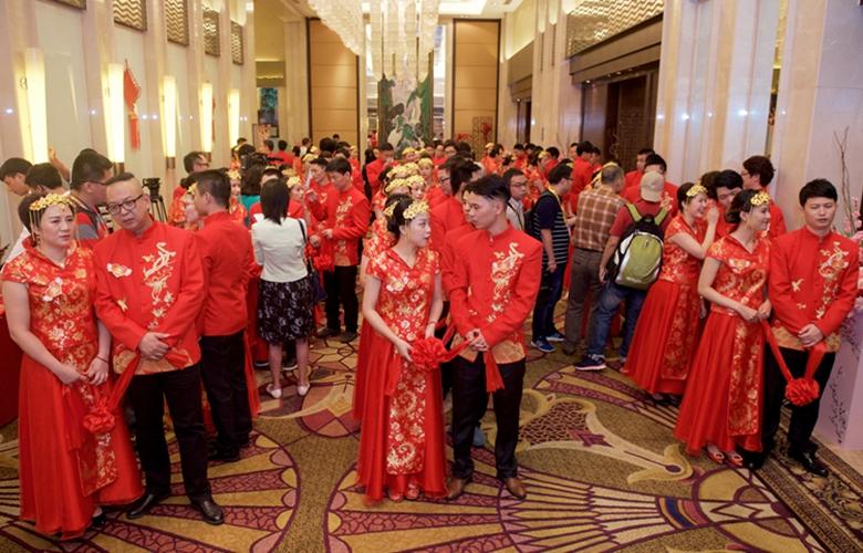 兩岸百位新人廈門舉行集體婚禮