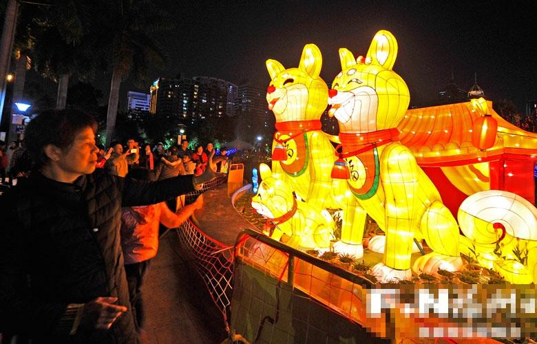 福州:元宵还未来 花灯已盛开