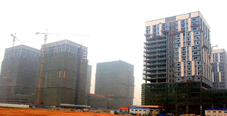 建设中的集美软件园三期(摄于2013年)。新华网发(集美区委宣传部 供图)