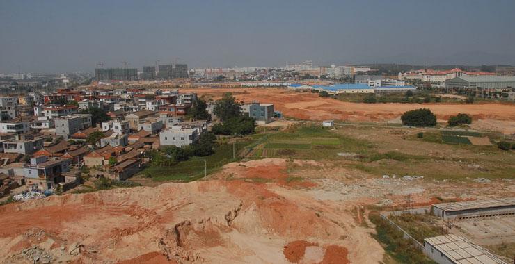 翔安新城建设前(摄于2007年9月)。新华网发(张天骄 摄)