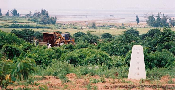 厦门翔安隧道开建前(摄于2007年)。新华网发(张天骄 摄)