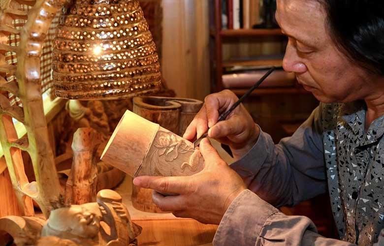 武夷山下的竹刻艺术