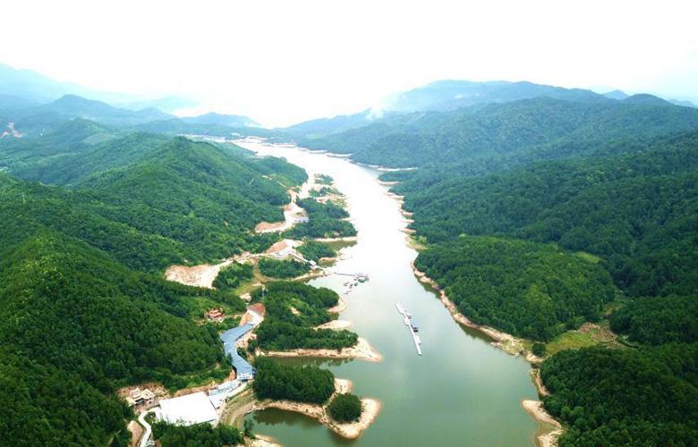 鳥瞰福建尤溪美麗山水