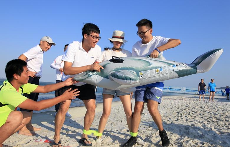 漳州港:水上趣味比賽喜迎國慶