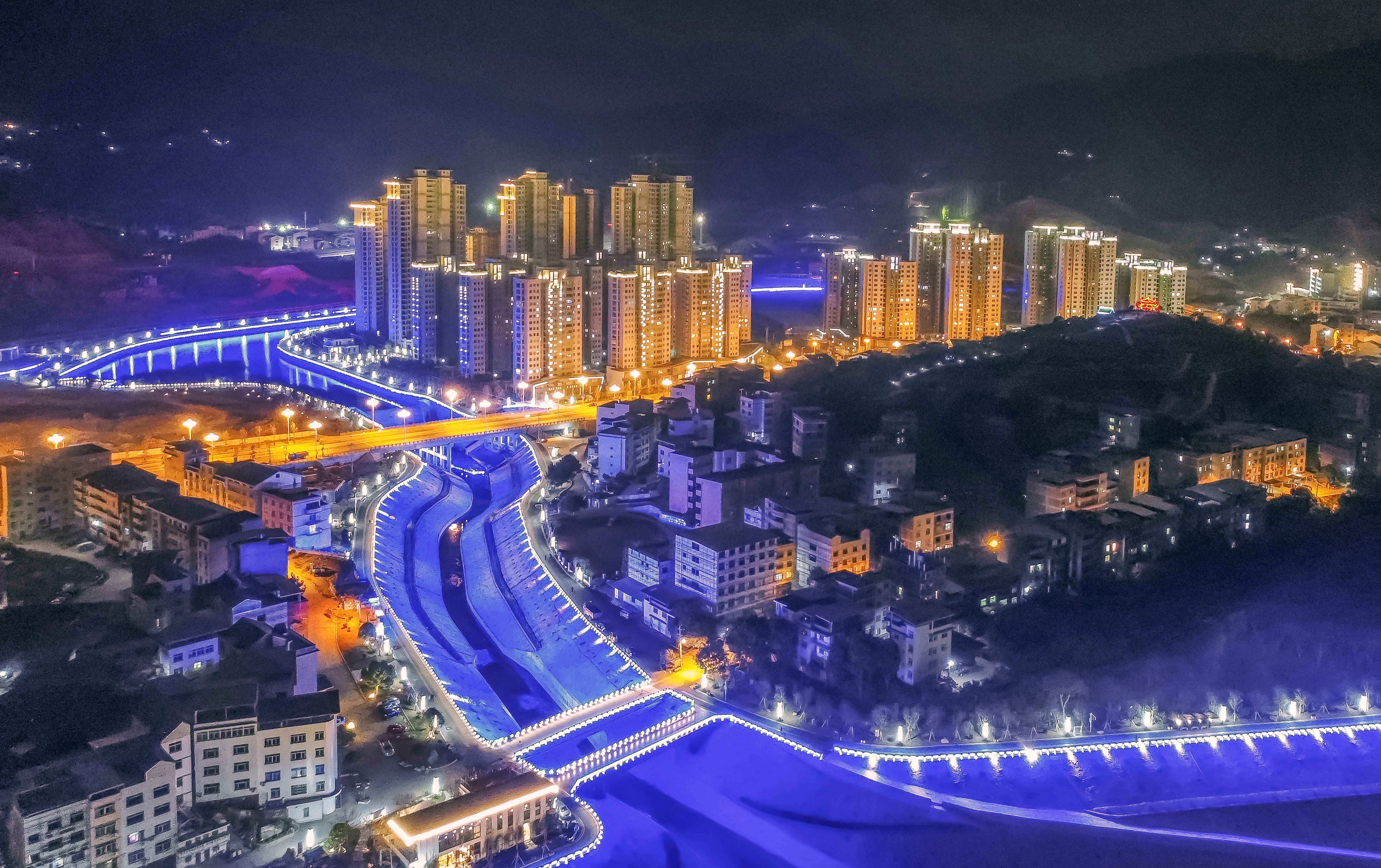 美丽的新城夜色