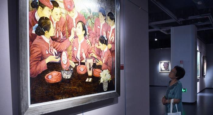 大型漆画展在漳州开发区亮相 为漳州首次举办