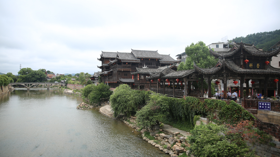 龍岩汀江幹流城區段(資料圖)