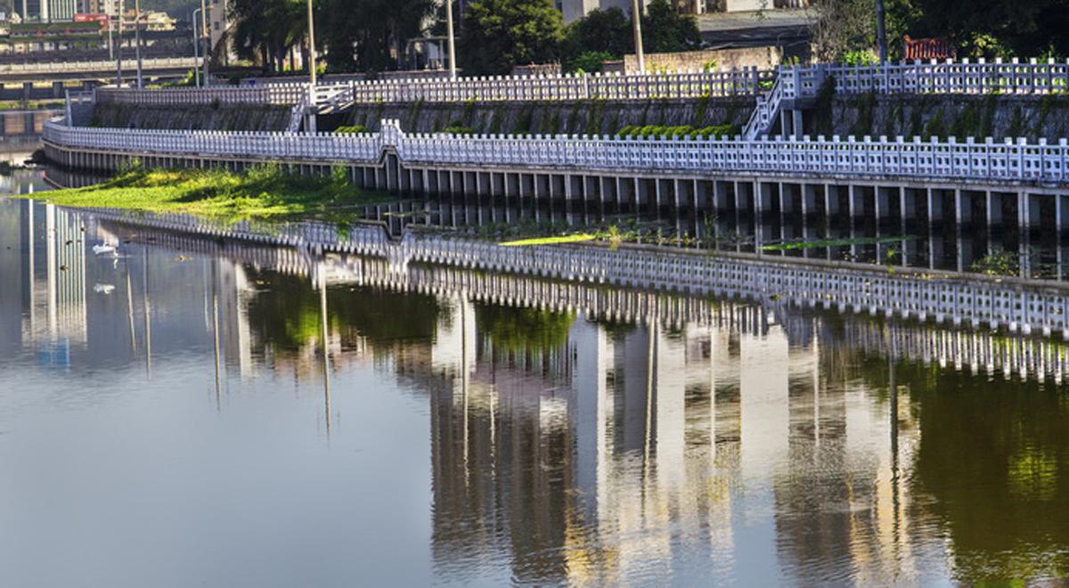 永春建設堤壩防洪水(資料圖)