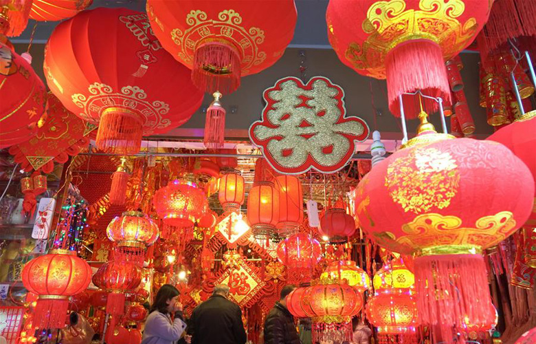 福州:张灯结彩迎新春