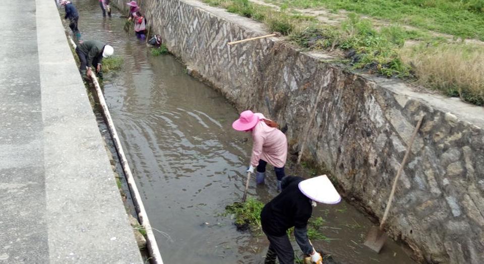莆田北岸群眾清理河道垃圾(資料圖)