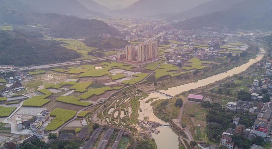 永春縣石鼓鎮卿園村附近的萬裏生態水係工程(資料圖)