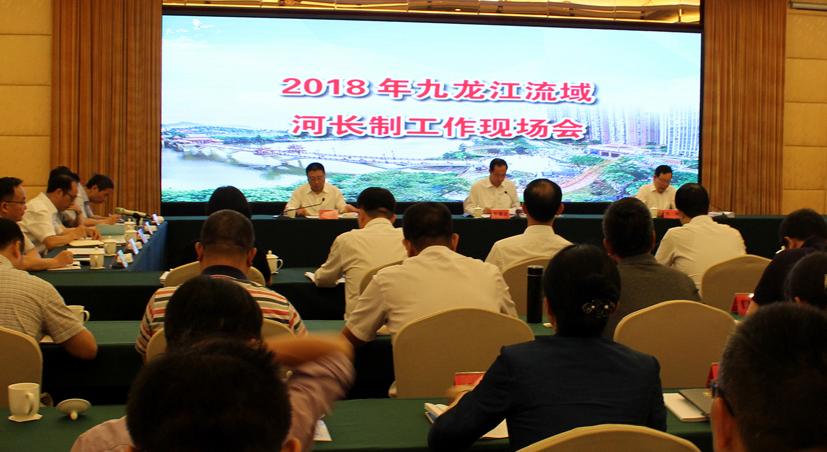 2018年九龍江流域河長制工作現場會現場(資料圖)
