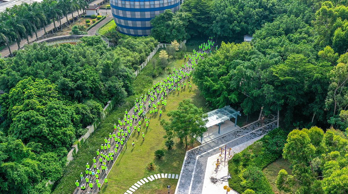三寶集團綠色健步跑活力開跑