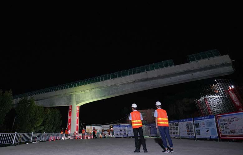 【組圖】廈門市首座轉體橋成功對接