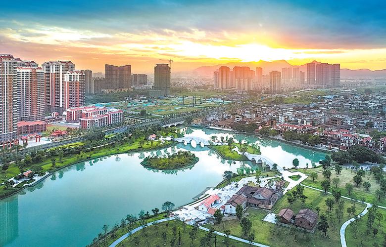 龍文湘橋湖生態濕地項目基本完工