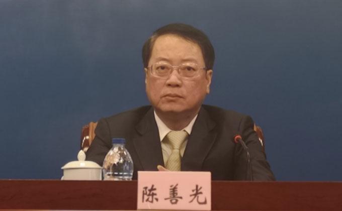 平潭綜合實驗區黨工委書記陳善光介紹平潭建設發展情況