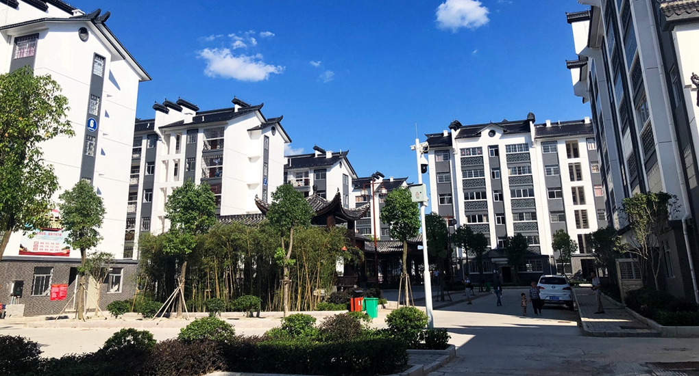 長汀縣易地扶貧搬遷安置區——南站幸福小區。