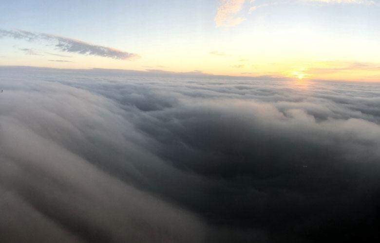 宛若仙境 德化九仙山出現瀑布雲
