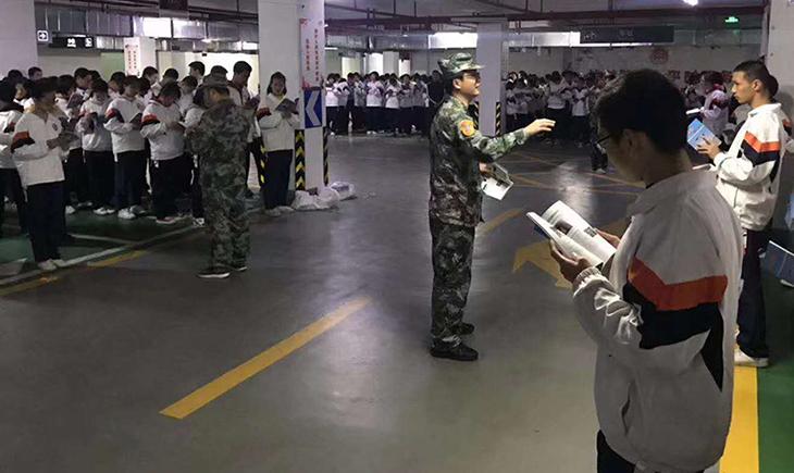 三明市舉辦防空警報試鳴和防空疏散演練