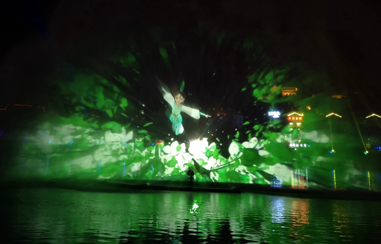 【組圖】3D水幕秀驚艷亮相福鼎桐山溪