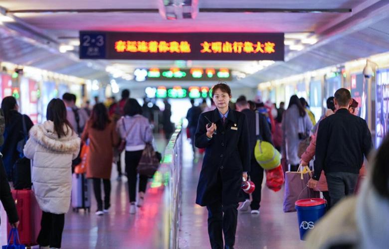 【新春走基層】黃海燕:日行15000步的鐵路客運值班員