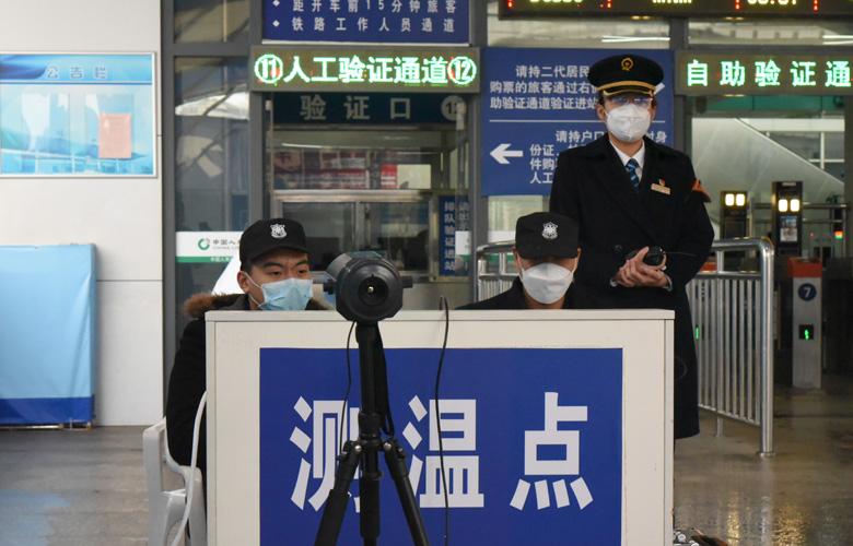 福(fu)州火車站︰紅外線測溫 防疫監測全(quan)覆蓋