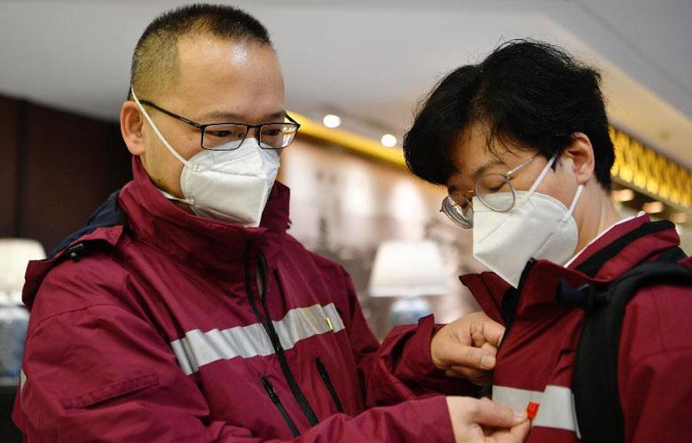 中國政府赴菲律賓抗疫醫療專家組從福州啟程