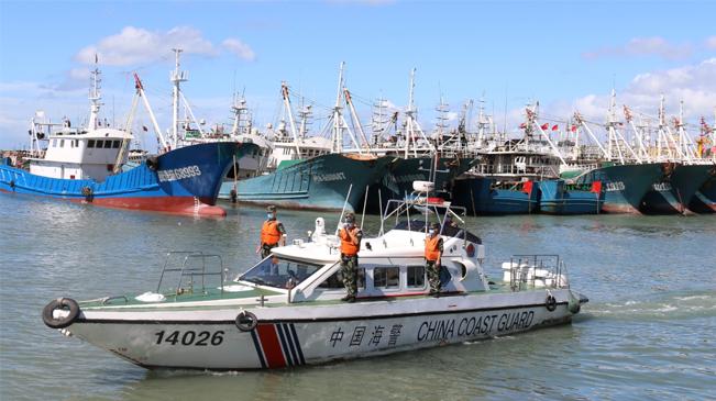 回港避風!福州海警幫助漁船民做好防臺準備