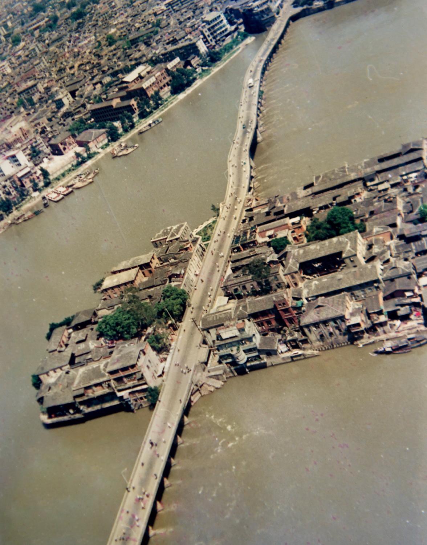 80年代福州解放大橋(中洲島)