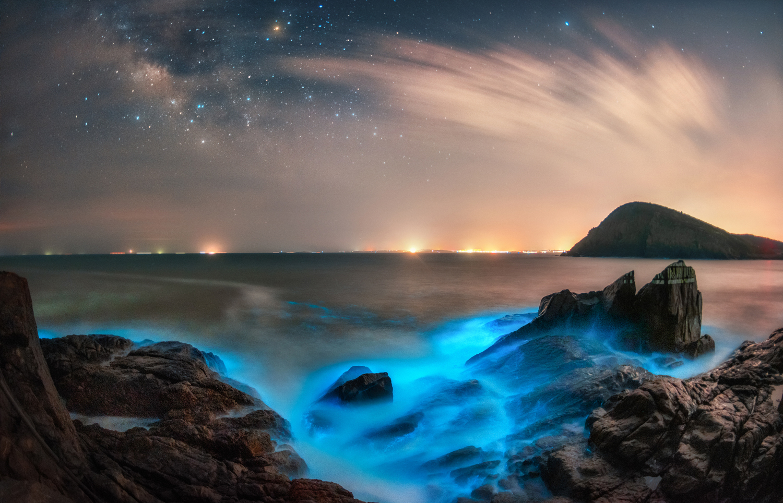 星辰熒光海