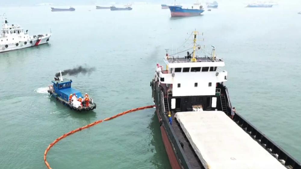 船舶溢油怎麼辦?看看這場演練就明白了